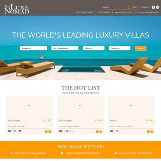 The Luxe Nomad – Luxury Villa Management and Bookings