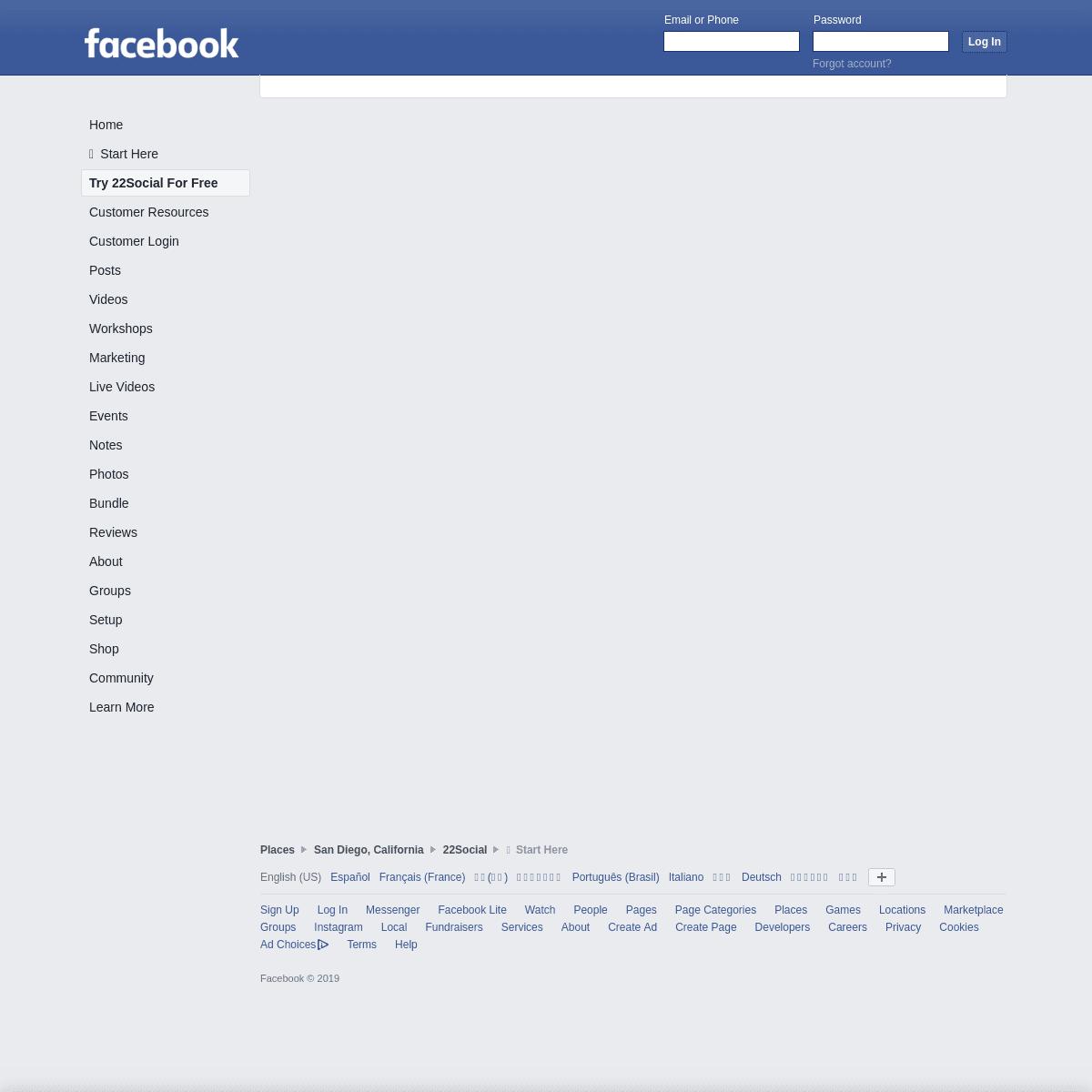22Social - Facebook