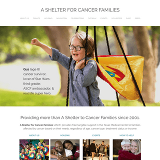 A SHELTER FOR CANCER FAMILIES - Home