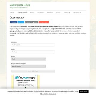 Magyarország térkép és Google útvonaltervező