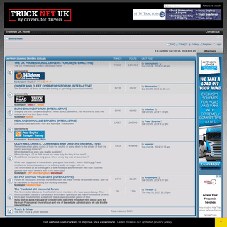 The TruckNet UK Drivers RoundTable • Index page