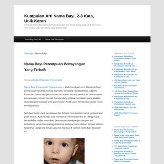 Kumpulan Arti Nama Bayi, 2-3 Kata, Unik Keren « November 2019Kumpulan Arti Nama Bayi, 2-3 Kata, Unik Keren - Kumpulan Nama Bayi