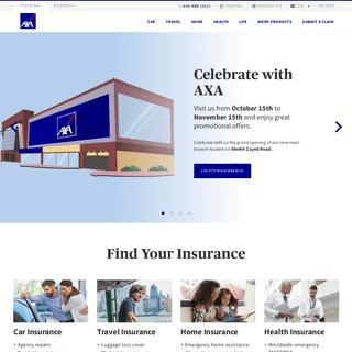 AXA Insurance UAE I Car, Home, Travel, Medical & more covers
