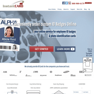ID Badges & Cards ordered online with free design - InstantCard