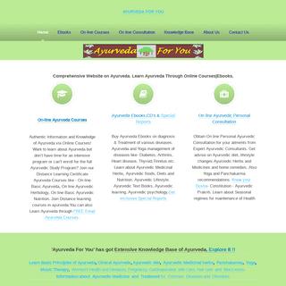 Ayurveda Online Courses-Ayurveda ebooks