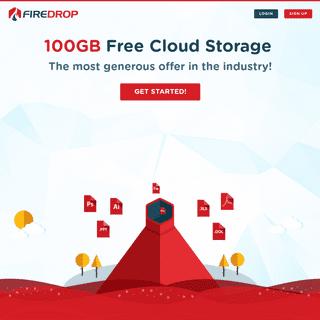Firedrop.com - 100GB Free Cloud Storage - Firedrop