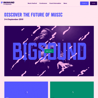 BIGSOUND Festival and Conference - 3–6 Sept 2019 - BIGSOUND