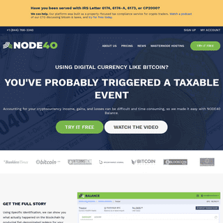 Blockchain Accounting and Tax Software - NODE40