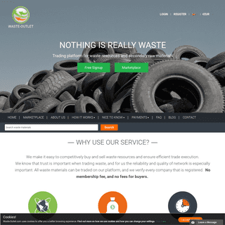 Trade waste and recyclable resources - Waste-Outlet trading portal