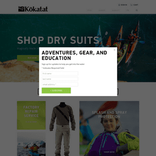 ArchiveBay.com - kokatat.com - Shop Men's and Women's Dry Suits, PFDs, Stand Up Paddling, and Other Kayaking Gear - Kokatat Inc.