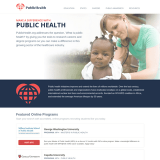 Public Health Education, Career, and News for 2019