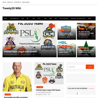 Official T20 Cricket Website - Twenty20Wiki