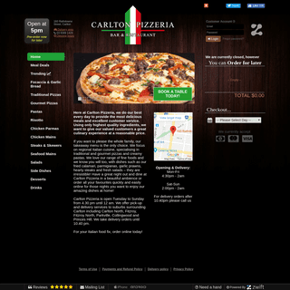Carlton Pizzeria Bar & Restaurant - Home Delivery Available
