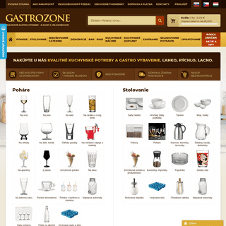 Gastrozone.sk - gastro vybavenie, gastro zariadenia, kuchynské potreby - eshop a veľkoobchod