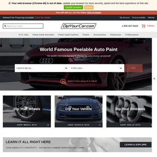 DipYourCar - World Famous Peelable Auto Paint – DipYourCar.com