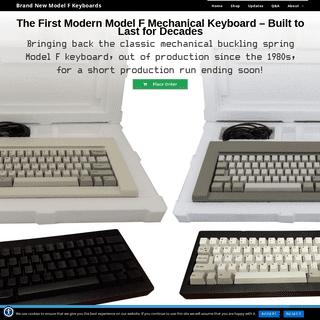 ArchiveBay.com - modelfkeyboards.com - Brand New Model F Keyboards – The Model M Predecessor- Mechanical Capacitive Buckling Spring Keyboards with NKRO