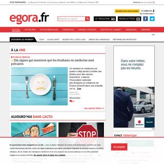Egora - Actualités médicales - Formation Médicale Continue (FMC) - Santé - La santé fait débat