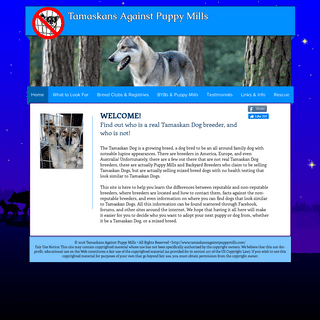 Tamaskans Against Puppy Mills