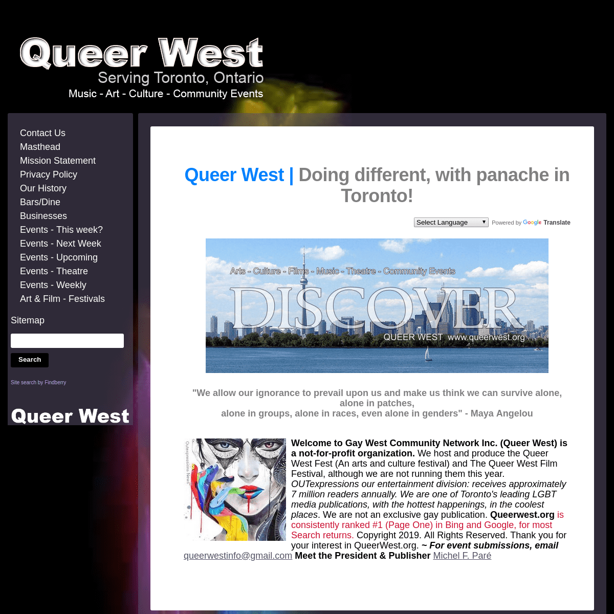 Queer West - Doing different with panache in Toronto!