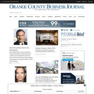 Orange County Business Journal Homepage - Orange County Business Journal
