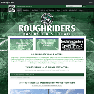 RoughRiders Baseball and Softball Club