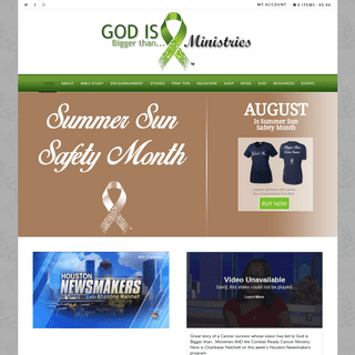 Cancer Ministry - God Is Bigger Than Ministries