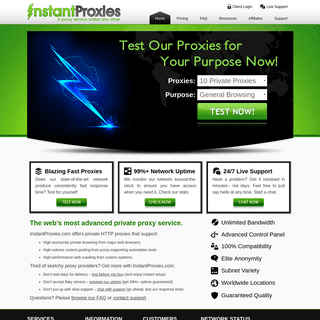 Instant Proxies – Private Proxy Service - A proxy service unlike any other