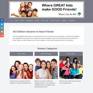 Help for children who have trouble making friends