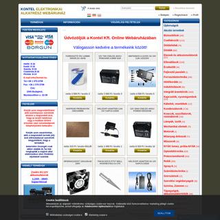 KONTEL Elektronikai Alkatrész Webáruház
