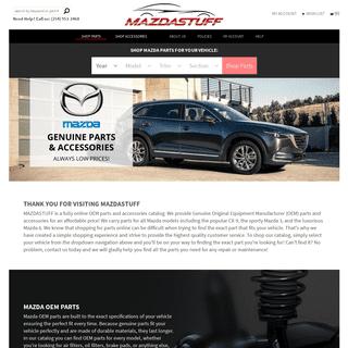 Mazda Parts and Accessories Online - MazdaStuff