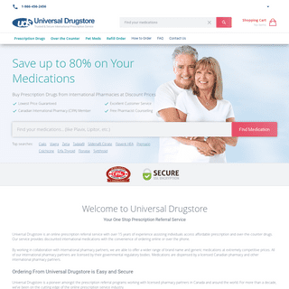 Universal Drugstore™ - Reputable Canadian Online Pharmacy