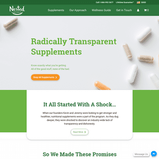 Nested Naturals Supplements - Showing You The Way to Better Health