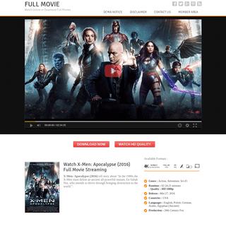 Watch X-Men- Apocalypse (2016) - Full Movie Streaming