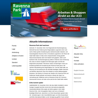 1A an A 33- das neue GIB Ravenna Park - Aktuelle Infos