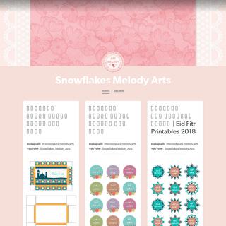 Snowflakes Melody Arts