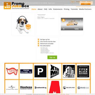 PromoJukeBox - watermarked music promotion