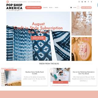 Pop Shop America - DIY Blog & Craft Supplies