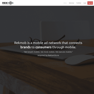 Mobile advertising Network for Agencies, Advertisers, Mobile Developers, Publishers - REKMOB