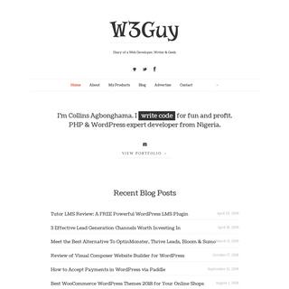 ArchiveBay.com - w3guy.com - W3Guy - Diary of a Programmer, Writer & Geek