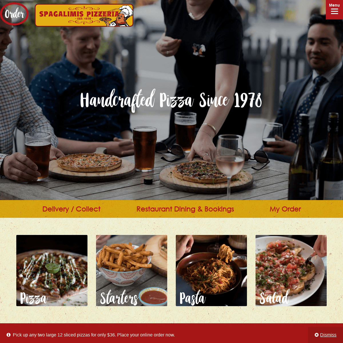 Spagalimis Pizzeria - Handcrafted Christchurch Pizza since 1978