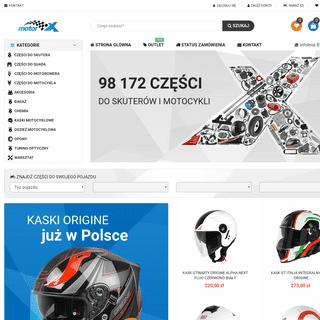 Sklep motor-x.pl - Części i akcesoria do skuterów, quadów, motorowerów i motocykli. - motor-x.pl - Sklep internetowy