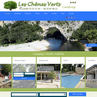 ArchiveBay.com - chenesverts.com - Camping Ardèche, Camping Sud Ardèche, Camping Voguë, Camping Ruoms - chenesverts.com