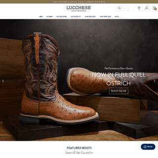Lucchese Boots Official Website - Since 1883 - Lucchese - Since 1883