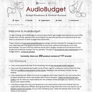 ArchiveBay.com - audiobudget.com - AudioBudget - Budget Earphone & Earbud Reviews