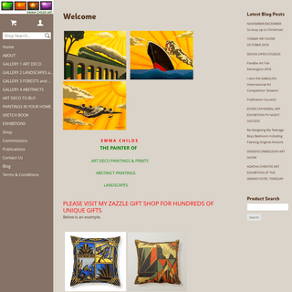 Welcome to the website of Emma Childs award winning Art Deco commercial Artist and landscape painter based in Devon