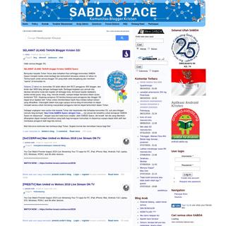 SABDA Space - Komunitas Blogger Kristen