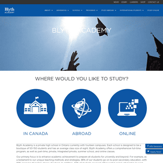 Blyth Academy - A Private School in Ontario and Abroad