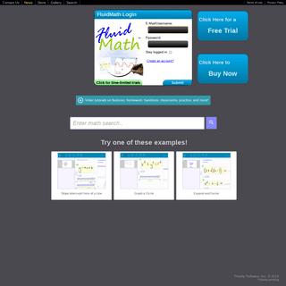 ArchiveBay.com - fluidmath.net - FluidMath - Bring Your Handwritten Math to Life!