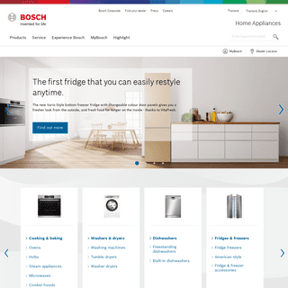 Bosch home appliances- experience quality, reliability and precision.