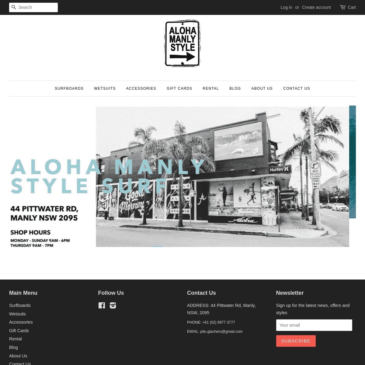 Aloha Surf Manly The best core Surf Shop on Northern Beaches of Sydney – Alohasurfmanly